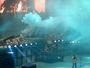 Yes, those are cannons. AC/DC doesn't mess around.
